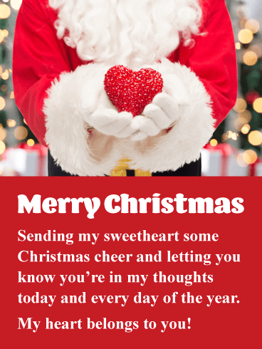 romantic merry christmas images for sweetheart