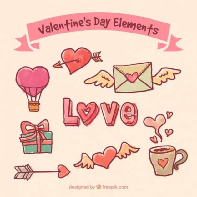download free valentines day elements vector graphics