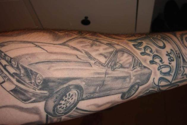 ford mustang tattoo image