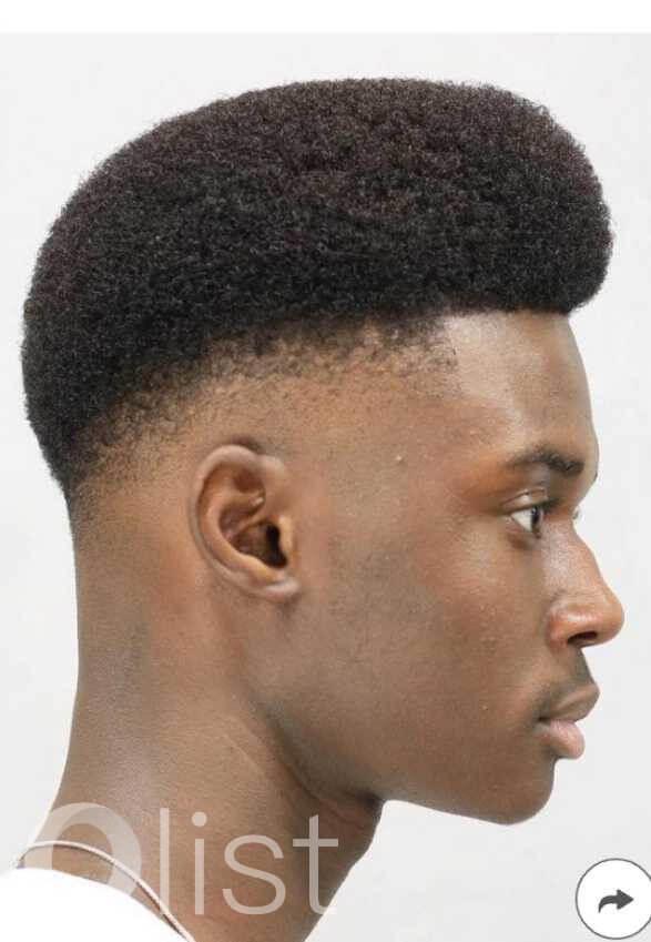 high fade afro haircut