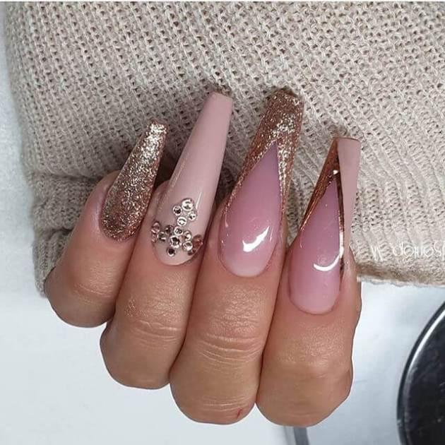 shimmery nail art 2020