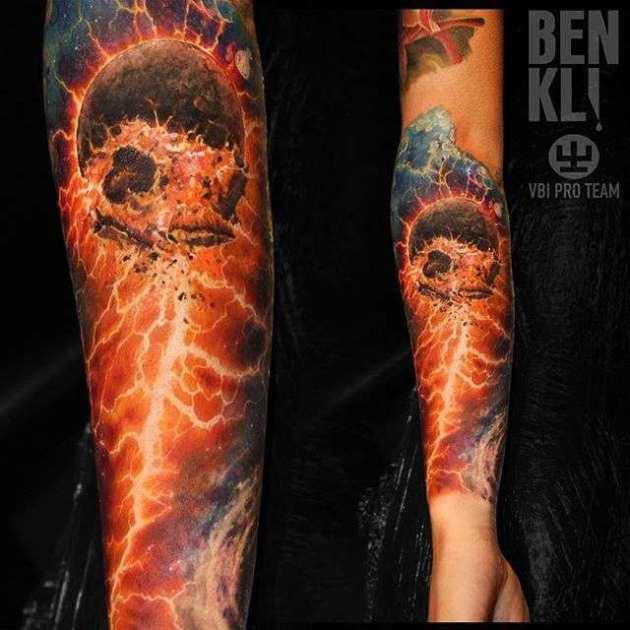 apocalypse tattoo idea on back arm