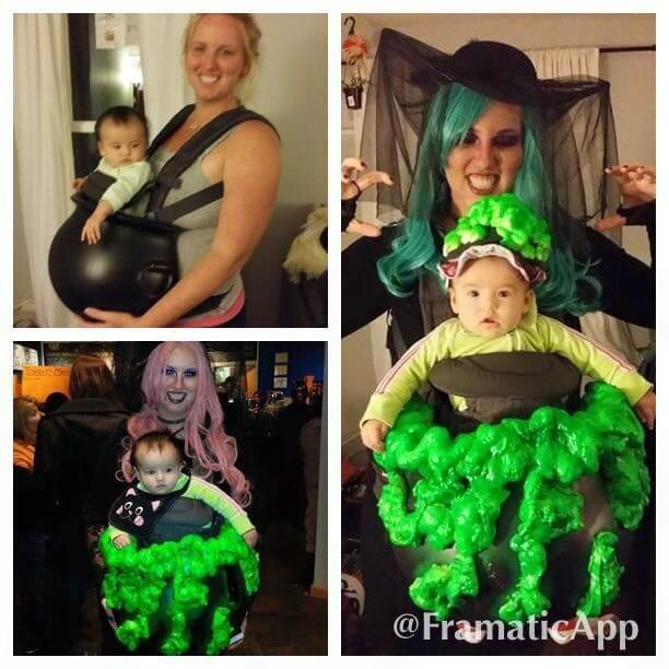 cauldron of potions baby carrier halloween costume idea