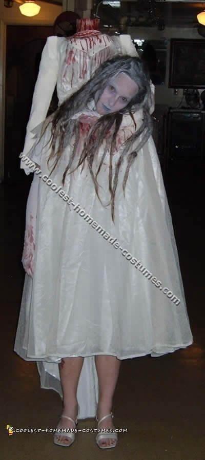 diy bloody bride halloween costume idea