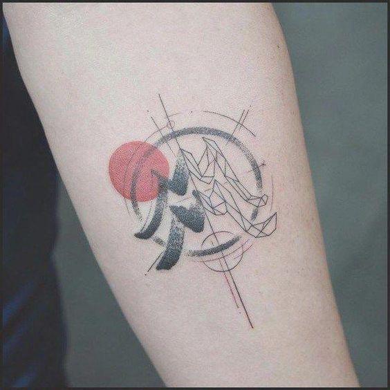 geometric aquarius constellation astronomy tattoo design
