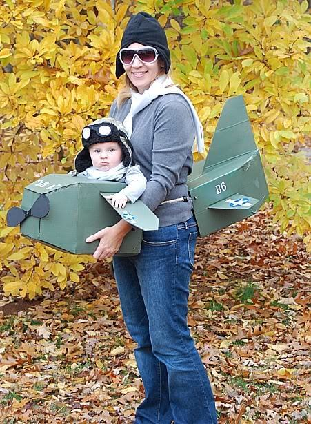 pilot baby carrier halloween costume idea