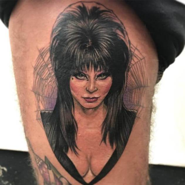 realistic elvira tattoo design