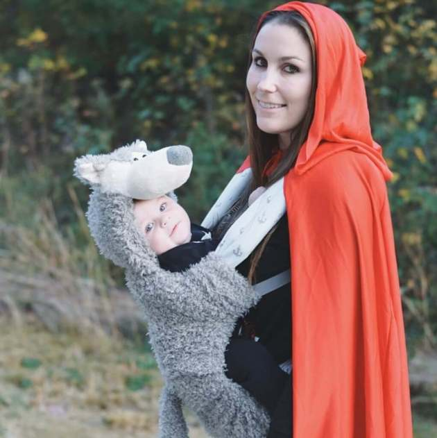 red riding hood wolf baby carrier halloween costume idea