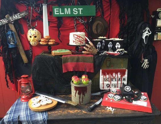 friday the 13th halloween party decor idea