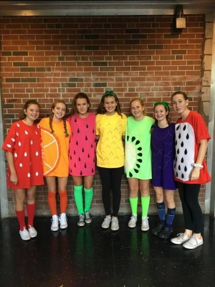 fruits group halloween costumes for work