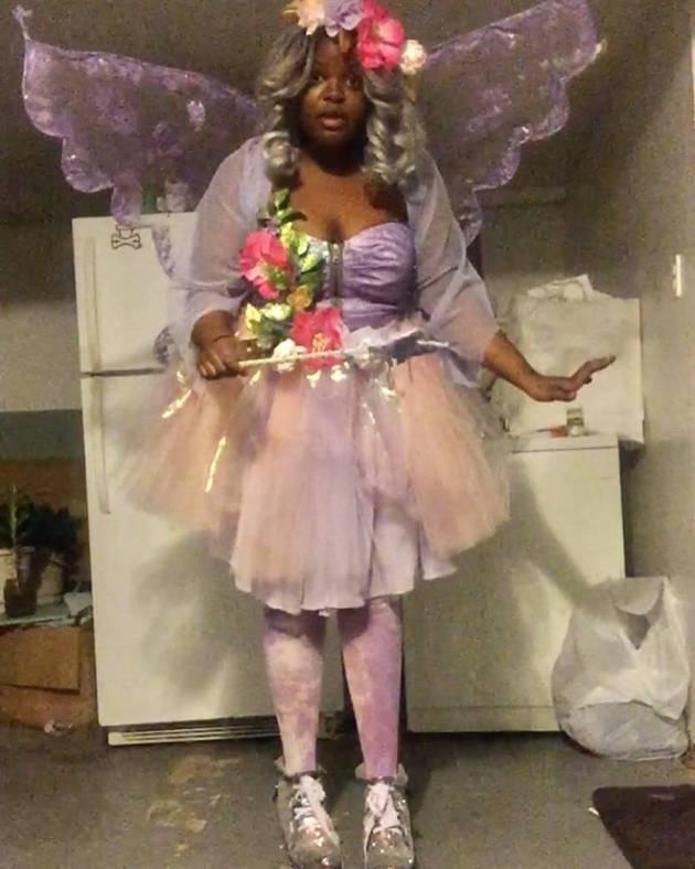 homemade fairy plus size halloween costume idea