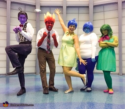 inside out group halloween costumes for work