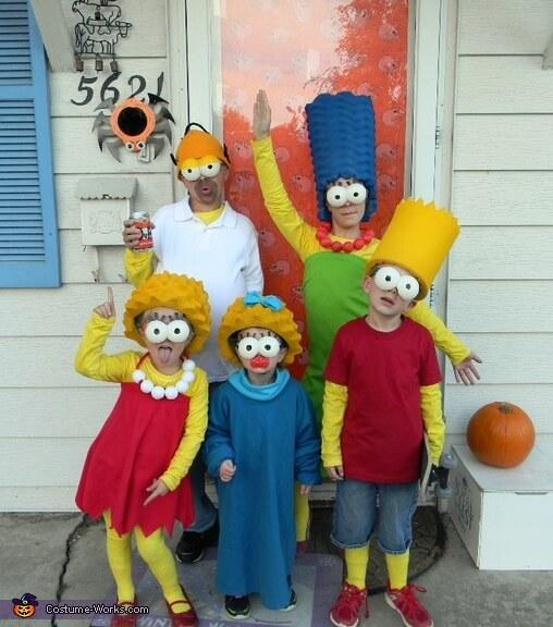simpsons family halloween costumes ideas