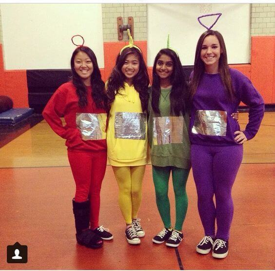 teletubbies group halloween costumes for work