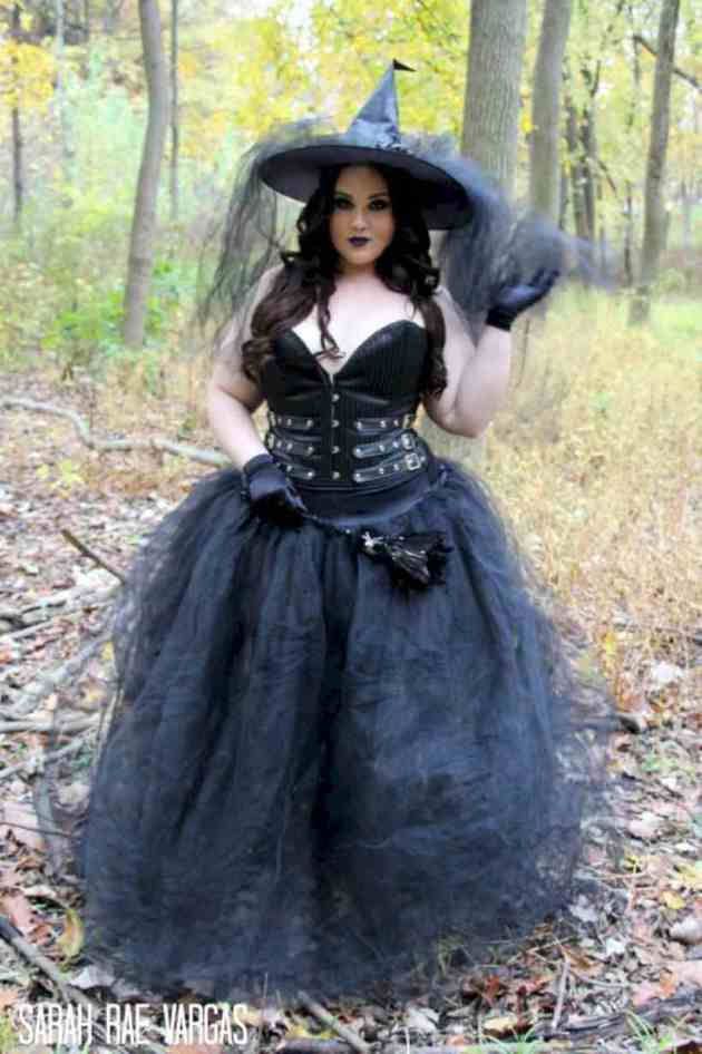 homemade witch halloween wedding plus size costume idea