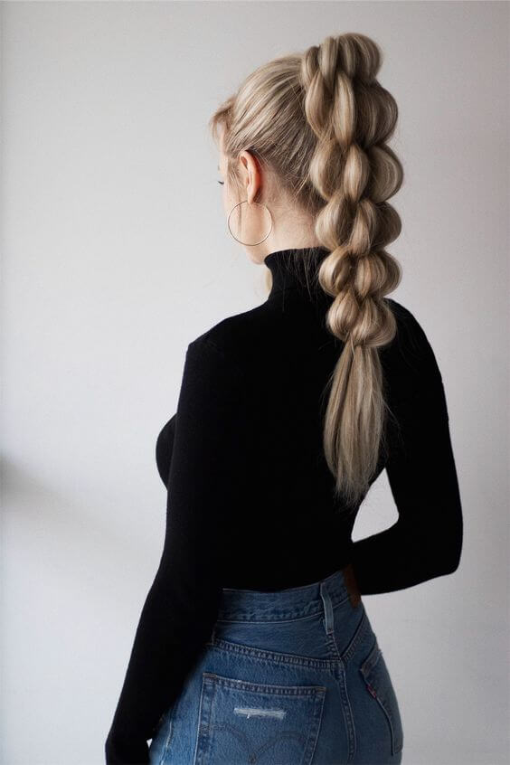 cute twisted high ponytail hairstyle for winter