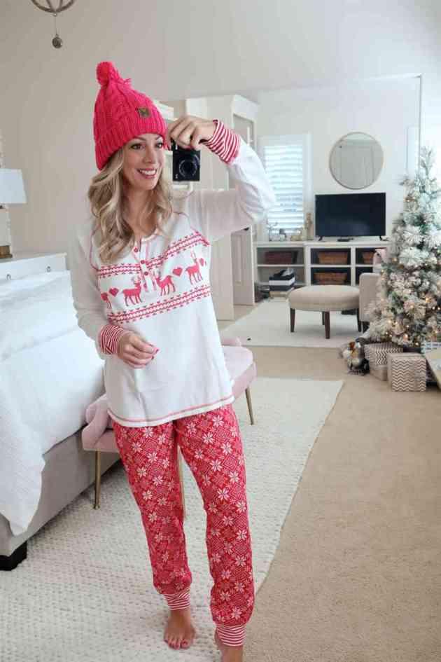 women's casual christmas pajama outfit ideas