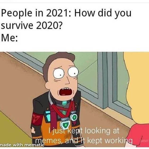 memes appreciation for new year 2021