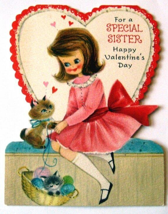 happy valentines day card image for special sister