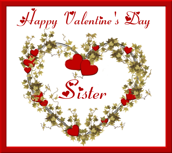 happy valentines day heart image for sister