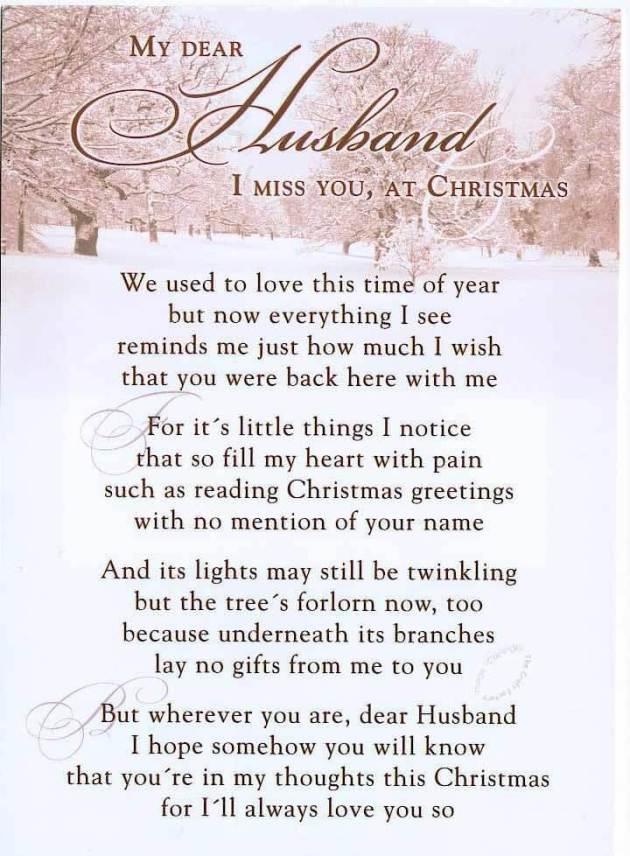 missing you at christmas poem for husband
