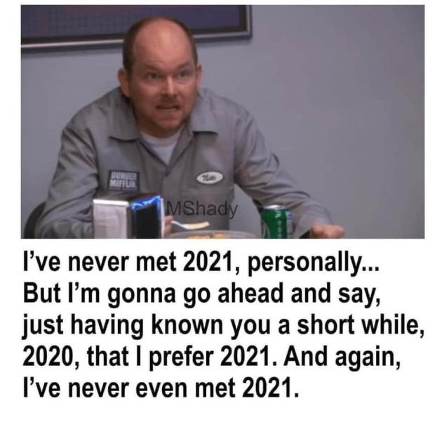 sarcastic new year 2021 meme