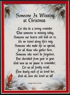 missing her at christmas poem