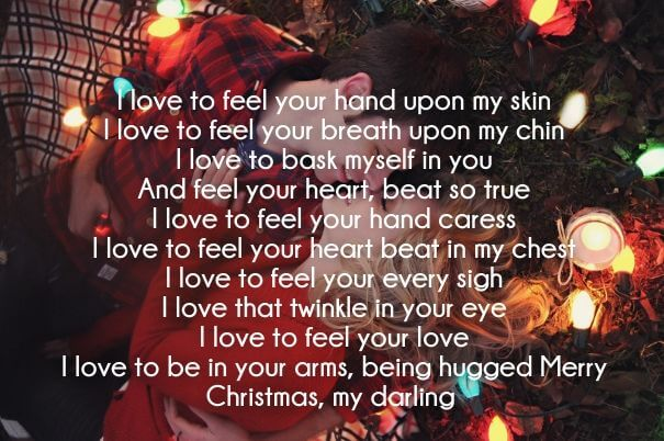missing you at christmas poem for new found love
