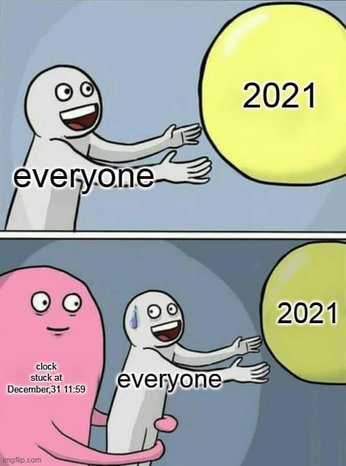 new year 2021 excitement meme