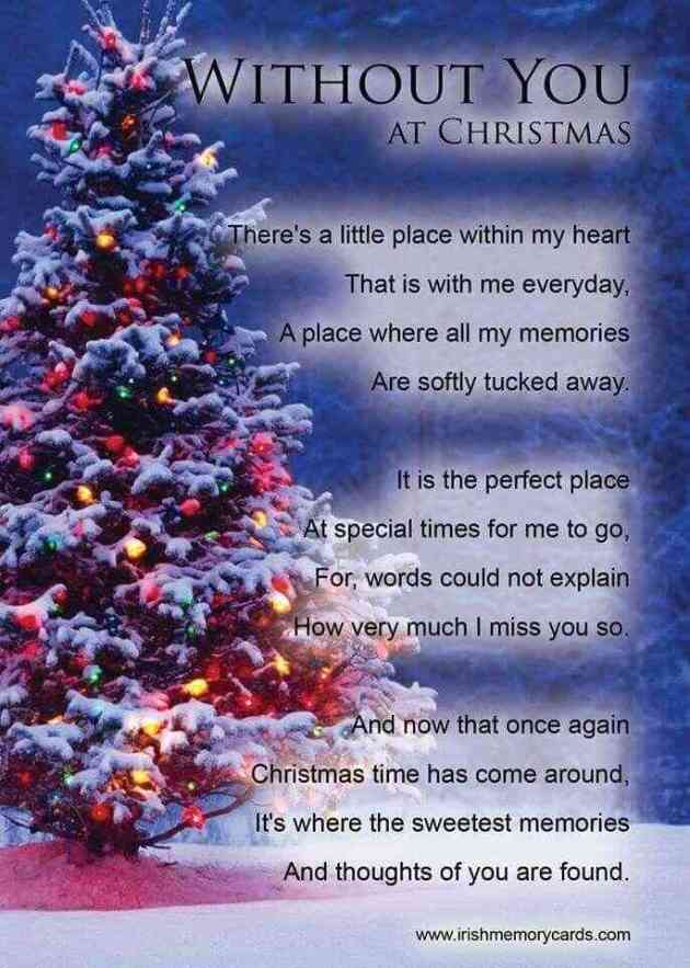 missing you at christmas for him-her in sweet memories