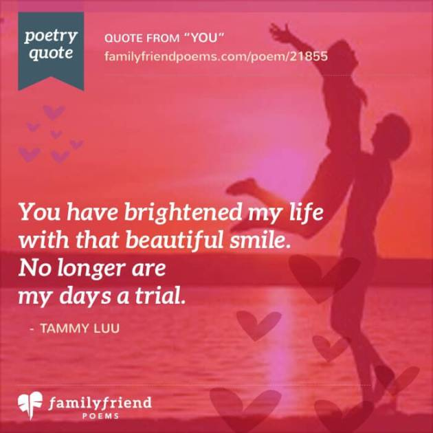 you made my life bright quote valentines day image for wife