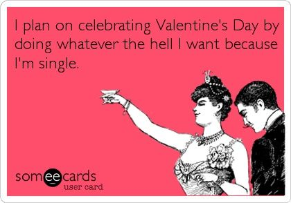 funny single on valentines day ecard image