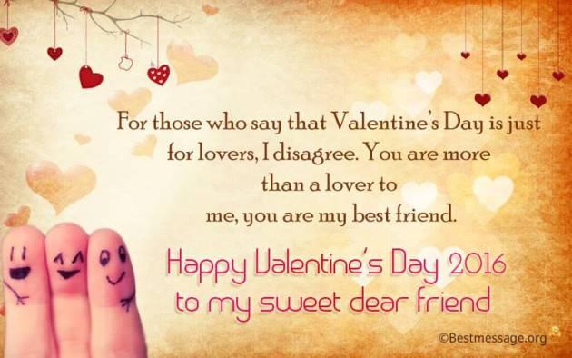 happy valentines day best friend quote image