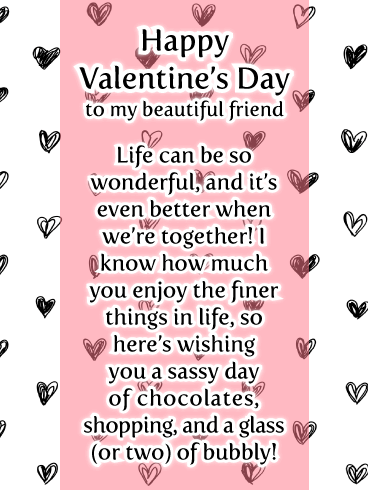 happy valentines day wishes image for beautiful friend