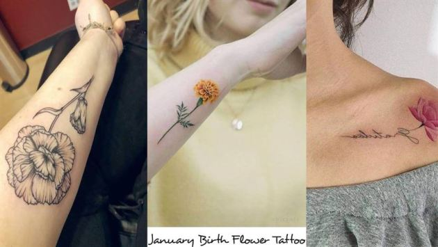 January birth flower tattoo ideas