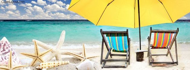 relax on the beach summer facebook cover photo for timeline