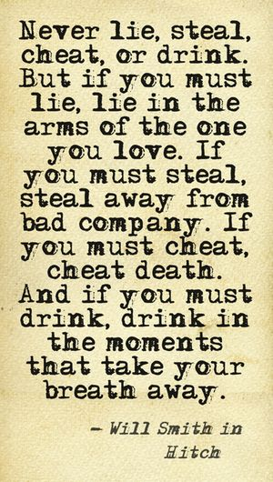 will smith quote from love movie hitch