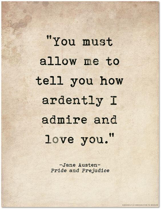 admiring love quote