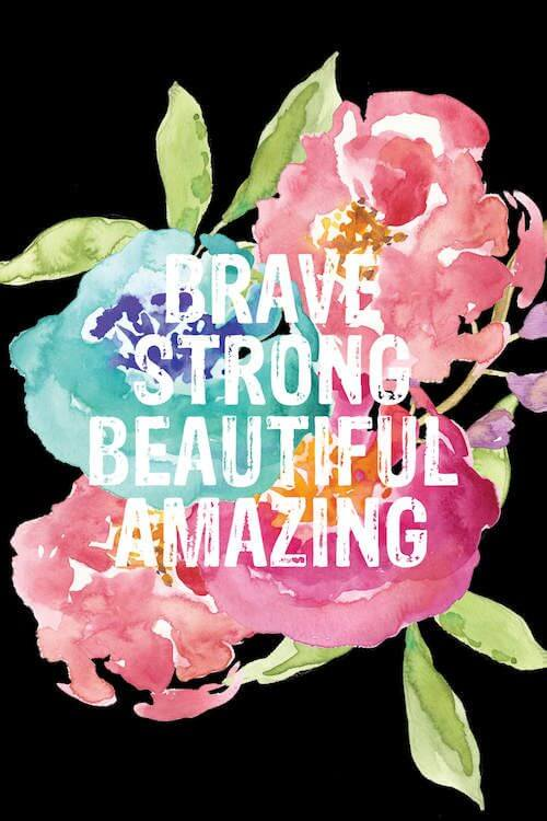brave strong beautiful amazing watercolor drawing background image for her