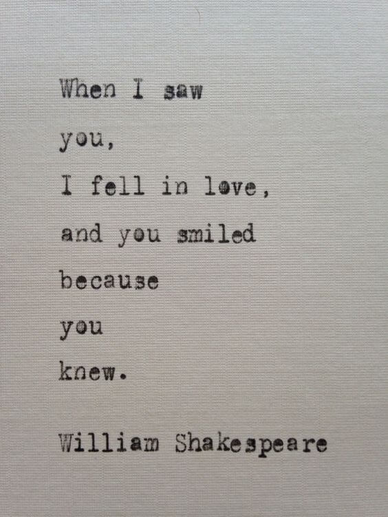 falling in love quote for someone special