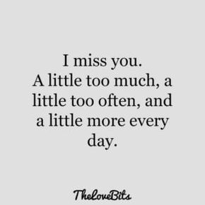 i miss you every day quote