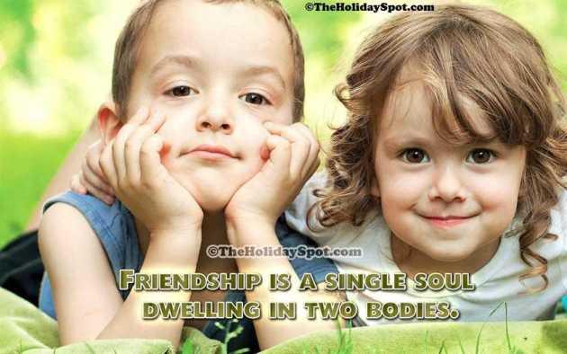 small cute friendship quote image