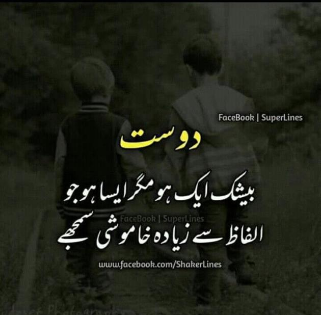 dost poetry image in urdu