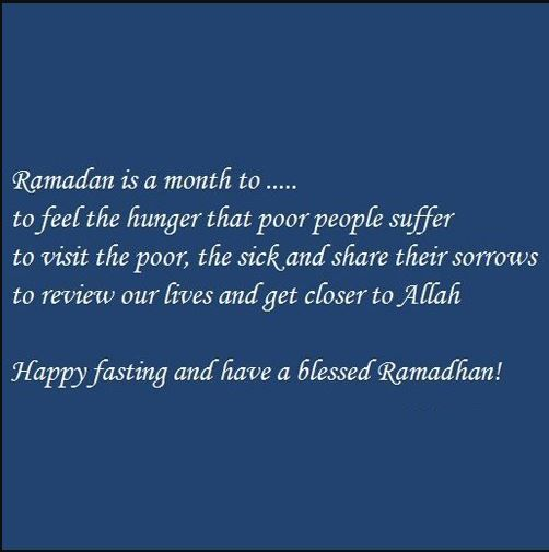 have a blessed month of ramadhan message