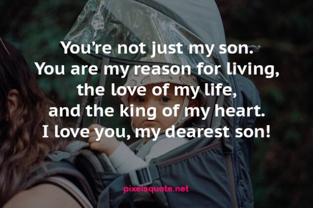 i love you dearest son quote image
