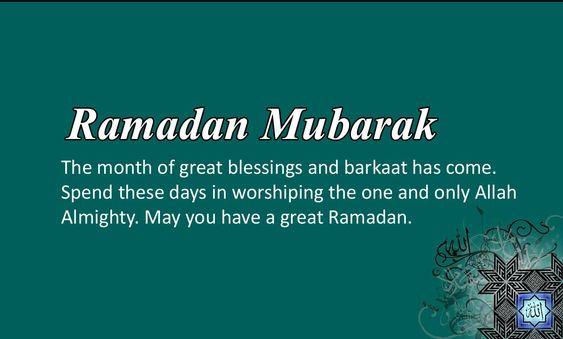 ramadan blessings message