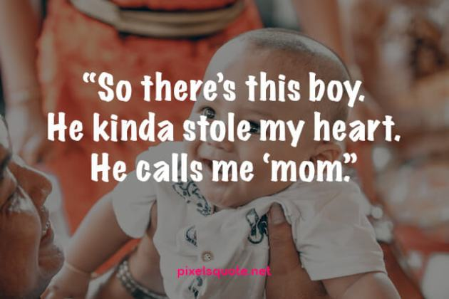mom and son relation quote image