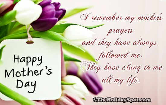 my mother's prayers quote for happy mothers day