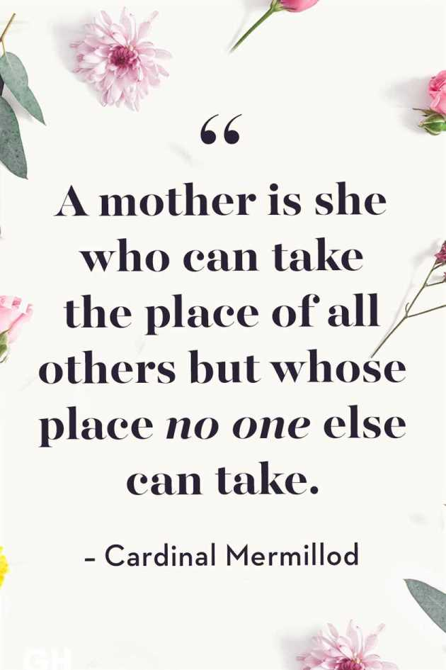 no one can take place of mother quote image