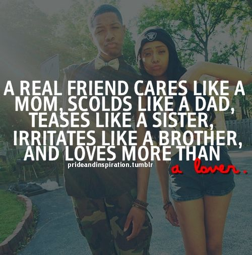 real friendship quote image